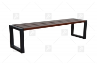 Moderná lavica bez operadla Palisander