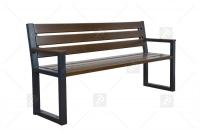 Moderná lavica s operadlom Vlašský orech