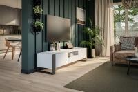 moderná TV skrinka Modi - Biely lesk TV