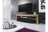 moderná TV skrinka Vera 138 cm - Dub artisan/Čierny mat TV skrinka Vera do salonu