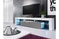 moderná TV skrinka Vera 190 cm - Grafitový lesk