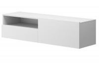 Moderná závesná TV skrinka so zásuvkami Altara TV120 Biela
