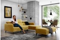 Moderní Rohová sedací souprava do obývacího pokoje Onyx s taburetem