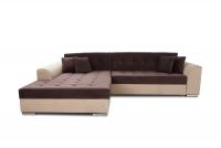 Moderná rohová sedacia súprava Sorento brazowo - béžový Rohová sedacia súprava z komfortowym siedziskiem