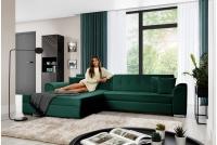 Moderná rohová sedacia súprava Sorento Rohová sedacia súprava w farbe butelkowej zieleni