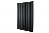 Čalúnený stenový panel Dlhý čierny panele čalouněné