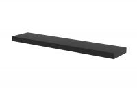 Police závěsná Doze 120 cm - Černý mat