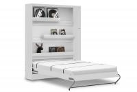 Vertikálna sklápacia posteľ 140x200 New Elegance - Biely mat