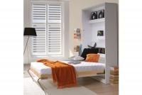 Sklápacia posteľ 90x200 New Elegance - Biely lesk polotapczan matowy