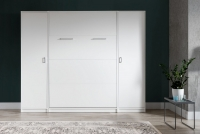 Sklápacia posteľ 90x200 New Elegance - Biely lesk polkotapczan z szafa
