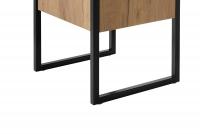 Skrinka wysoka do lazienki Brooklyn 800 - Dub craft stalowe nozki przy szafkach