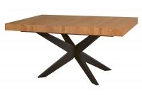 Stůl rozkládací Polaris 05 - Dub medový/Černý