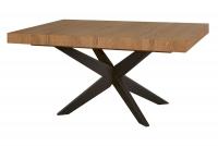 Stôl rozkládací Polaris 05 - Dub rustical/Čierny