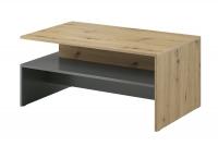 Konferenčný stolík 99 Dub artisan - šedý