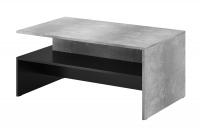 Konferenčný stolík Baros 99 Svetlý betón - čierna