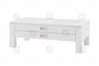 Konferenčný stolík so zásuvkami Anzio - biely mat