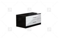 Nočný stolík Panama - Koncovka Série - Výpredaj czarno Biely stolík