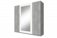 Skříň čtyřdveřová do ložnice Vera 20 Beton colorado/Bílý 22YADH