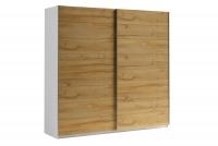 Skriňa s posuvnými dverami 220 Moore Biely/Dub grandson