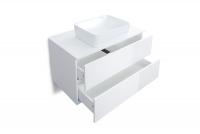 Skrinka lazienkowa z dwiema szufladami w zestawie S umývadlom Combo - Biely/MDF Biely lesk  Skrinka Combo