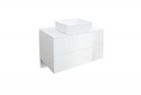 Skrinka lazienkowa z dwiema szufladami w zestawie S umývadlom Combo - Biely/MDF Biely lesk  Skrinka S umývadlom w polysku Combo