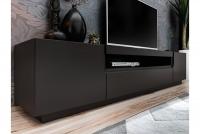 TV skrinka Eston 200 cm - Čierny mat