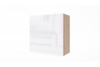 Závesná skrinka Combo 5 - Dub wotan/MDF Biely lesk