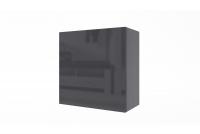 Skrinka závesná Combo 5 - grafit/MDF Čierny lesk