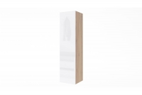 Závesná skrinka vertikálna Combo 4 - Dub wotan/MDF Biely lesk