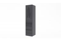 Skrinka závesná vertikálna Combo 4 - grafit / MDF čierny lesk