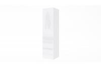 Skrinka závesná vertikálna Combo 4 - biela / biely lesk