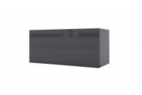 Závesná horizontálna skrinka Combo 2 - grafit/MDF Čierny lesk