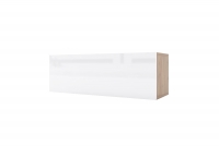 Závesná skrinka horizontálne sklopná Combo 3 - Dub wotan/MDF Biely lesk