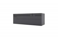 Závesná skrinka horizontálne sklopná Combo 3 - grafit / MDF čierny lesk