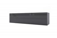 Skrinka závesná horizontálne sklopná Combo 4 - grafit / MDF čierny lesk