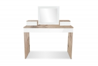 Toaletný stolík z zrkadlom Combo 14 i 10 - Dub wotan/MDF Biely lesk  Toaletný stolík Combo