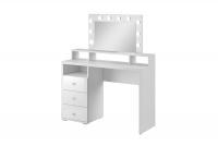 Toaletný stolík s osvetlením Diva - Biely mat