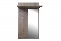 Vešiak z zrkadlom Keri 13 Dub hľuzovka - Výpredaj expozície Vešiak wiszacy