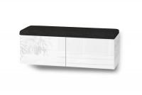 Závěsná skříňka na boty Elif 3 Bílý vysoký lesk
