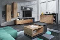 Komplet nábytku do obývačky Antracytová - Dub Ribbec