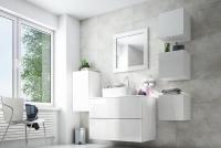 Komplet nowoczesnych nábytku do lazienki Combo 2 - Bílý/MDF Bílý lesk