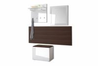 Komplet moderného nábytku do predsienie Combo - Biely/MDF Biely lesk Komplet nábytku