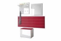 Komplet moderného nábytku do predsienie Combo - Biely/MDF Biely lesk Komplet