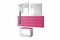Komplet moderného nábytku do predsienie Combo - Biely/MDF Biely lesk Komplet nábytku w bieli