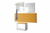 Komplet moderného nábytku do predsienie Combo - Biely/MDF Biely lesk Komplet nábytku w polysku