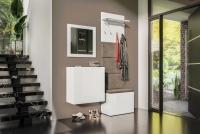 Komplet moderného nábytku do predsienie Combo III - Biely/MDF Biely lesk