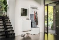 Komplet moderného nábytku do predsienie Combo IV - Biely/MDF Biely lesk