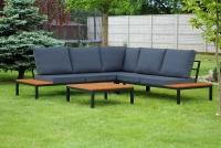 Komplet záhradný se stolem Hooly   Rohová sedacia súprava na dwor