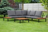 Komplet záhradný se stolem Hooly   Rohová sedacia súprava ze stolikiem